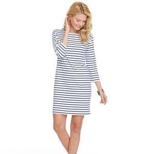 Vineyard Vines Navy Cotton Striped Knit Dress XS